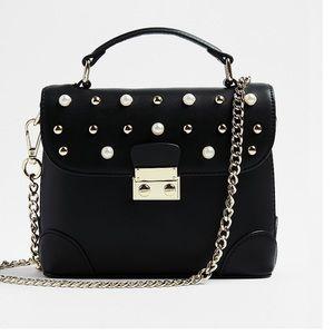 Studded Top Handle Crossbody Bag